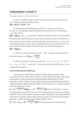 Konduktometrie a Potenciometrie