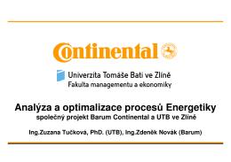 Analýza a optimalizace procesů Energetiky