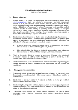Etický kodex služby Sreality.cz