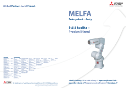 MELFA Průmyslové roboty - e