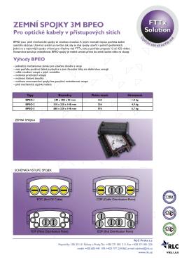 ZEMNÍ SPOJKY 3M BPEO Pro optické kabely v