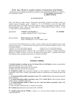 JUDr. Jana Škofová, soudní exekutor, Exekutorský úřad Kladno