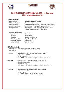 Rozpis na 5. kolo ČŠMK v Martinicích, 6. července 2010.
