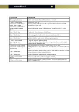 Účetní doklad Příjmový pokladní doklad Výdajový pokladní doklad