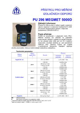 PU 296 MEGMET 5000D