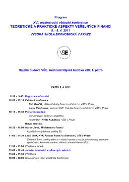 teoretické a praktické aspekty veřejných financí