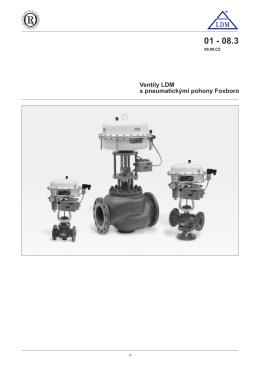 Ventily LDM s pneumatickými pohony Foxboro