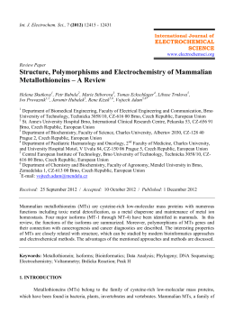 Structure, Polymorphisms and Electrochemistry of Mammalian