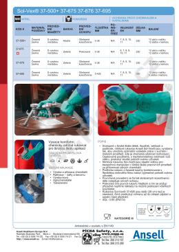 Chemicky odolné rukavice Ansell Sol-Vex 37-500+