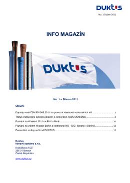 První číslo newsletteru Duktus (ke stažení ve formátu PDF)