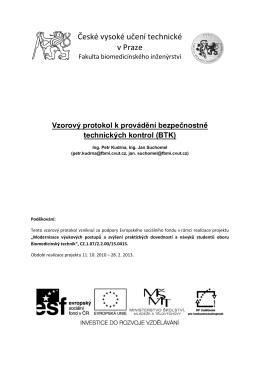 vzorový protokol BTK