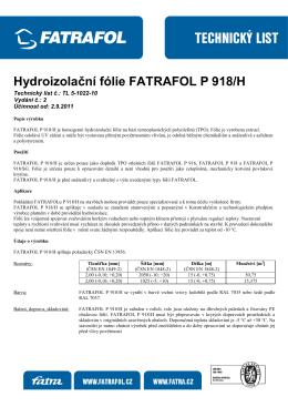 Hydroizolační fólie FATRAFOL P 918/H