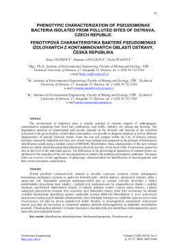 PHENOTYPIC CHARACTERIZATION OF PSEUDOMONAS