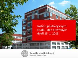 Prezentace o studiu oboru Politologie a mezinárodní vztahy (Bc.)