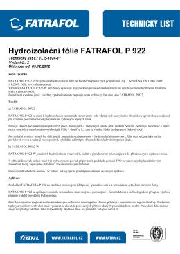 Hydroizolační fólie FATRAFOL P 922