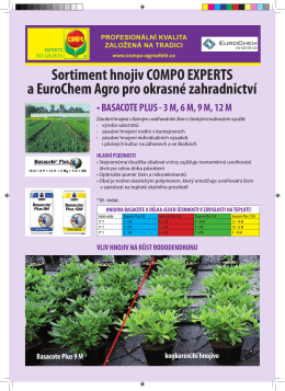 Sortiment hnojiv COMPO EXPERTS a EuroChem Agro pro okrasné