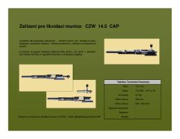 Zařízení pro likvidaci munice CZW 14.5 CAP