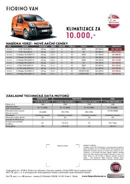 Ceník Fiorino Van - Fiat Professional