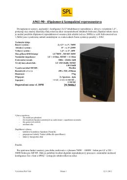 A961-90– třípásmová kompaktní reprosoustava