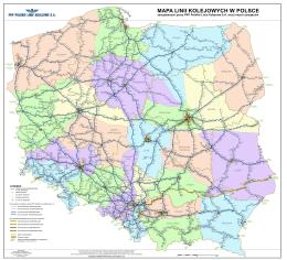 mapa linii kolejowych w polsce - PKP Polskie Linie Kolejowe SA