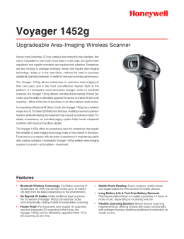 Voyager 1452g - Honeywell Scanning and Mobility