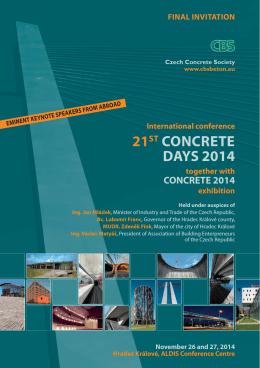 21ST CONCRETE DAYS 2014 - Česká betonářská společnost ČSSI