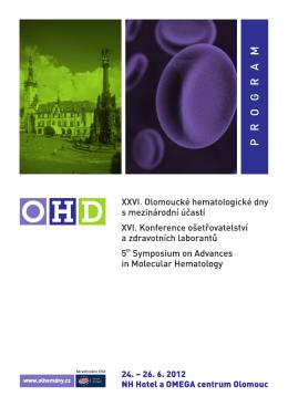 1. linii léčby - OHD - Olomoucké Hematologické dny