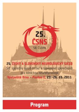 Program - Česká neurologická společnost