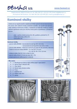 Komínové vložky a kouřovody (pdf.)