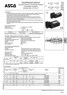 Pneumatické šoupátkové ventily, 3/2, elektricky