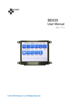 BE635 User Manual - SOS electronic s.r.o
