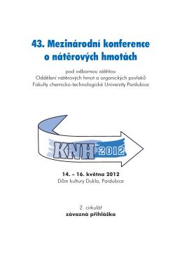 43. Mezinárodní konference o nátěrových hmotách