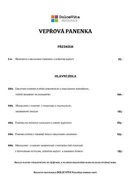 VEPŘOVÁ PANENKA - DolceVita RESTAURACE