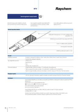 Samoregulační topný kabel Samoregulační topný kabel