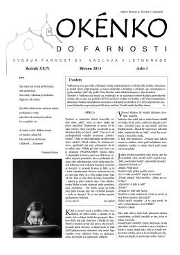 Okénko do farnosti 3/2015 (formát pdf) - Farnost Letohrad