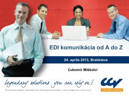 12:00 Čo je EDI komunikácia a ako ju zaviesť