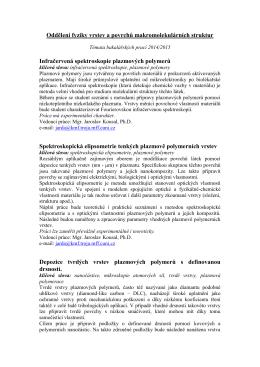 Témata bakalářských prací 2008/2009