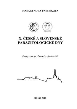 Pondělí 28. 5. 2012 - Česká parazitologická společnost