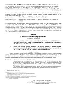 dražební vyhláška - Soudní exekutor Mgr. Tomáš Voborník