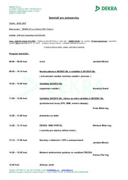 Program - DEKRA CZ, a.s.