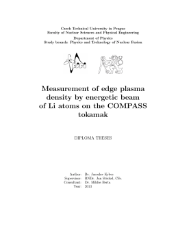 Measurement of edge plasma density by energetic beam of Li atoms