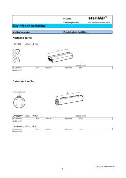 UVC germicidní zářiče