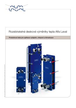 Rozebíratelné deskové výměníky tepla Alfa Laval