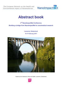 Abstract Book - NanoImpactNet