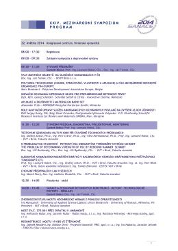 xxiv. mezinárodní sympozium program