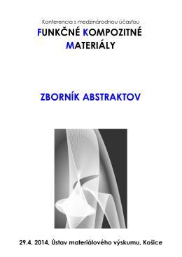 Zborník abstraktov 2014 ISBN - Ústav materiálového výskumu SAV