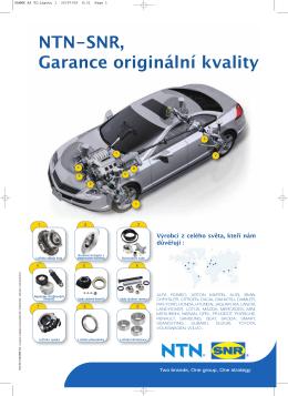 NTN-SNR, Garance originální kvality - Ntn