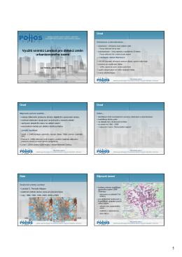 Využití snímků Landsat pro detekci změn urbanizovaného území
