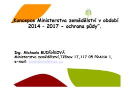 Koncepce Ministerstva zemědělství v období 2014