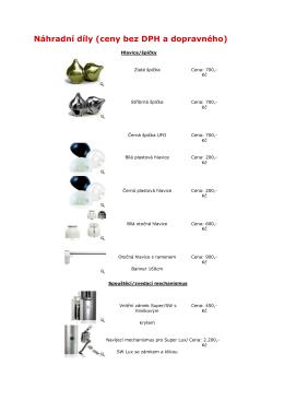Náhradní díly (ceny bez DPH a dopravného)